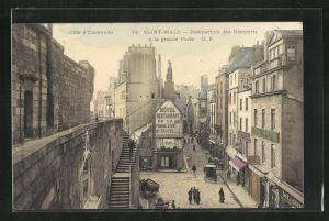 Künstler-AK Saint-Malo, Perspective des Remparts a la grande Porte