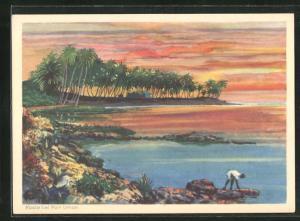 Künstler-AK Port Limon, Küste