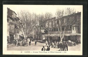 AK Cassis, Avenue Victor-Hugo et l'Hotel Lieutaud