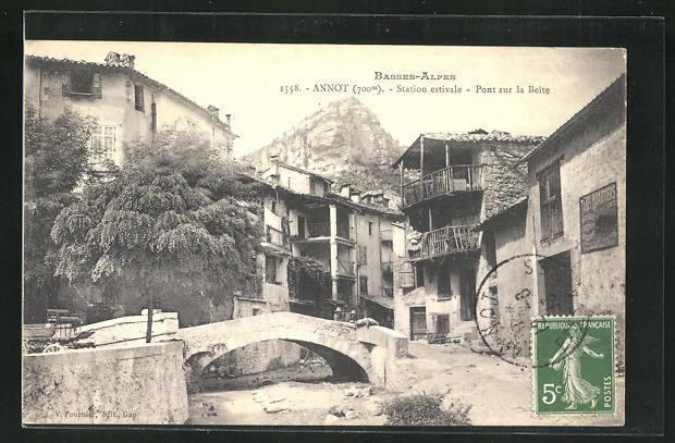 AK Annot, Station estivale - Pont sur la Beite 0