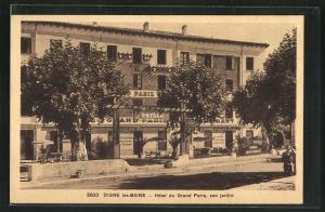 AK Digne les-Bains, Hotel du Grand Paris, sen jardin