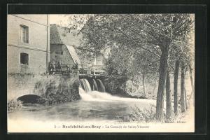 AK Neufchatel-en-Bray, La Cascade de Saint-Vincent