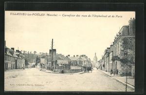 AK Villedieu-les-Poeles, Carrefour des rues de l'Orphelinat et de Pars