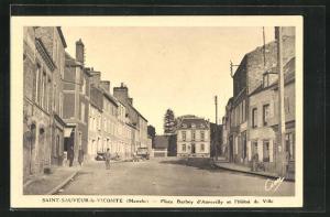 AK Saint-Sauveur-le-Vicomte, Place Barbey d'Aurevilly et l'Hotel de Ville