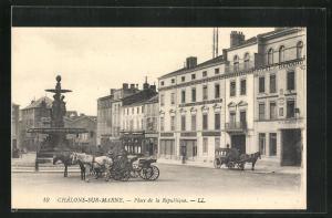 AK Chálons-sur-Marne, Place de la Republique