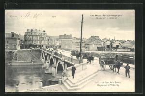 AK Epernay, Le Pont de la Marne, Magenta et la Ville d'Ay