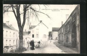 AK Chatillon-sur-Marne, Hotel de Ville Gendarmerie
