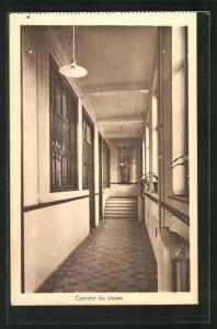 AK Bruxelles, Institut des Soers du Bon et Perpetuel Secours A. S. B. L., 176, Chaussee de Mons, Corridor des classes