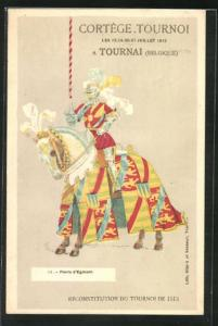 AK Tournai, Cortege Tournoi 1913, Floris d`Egmont