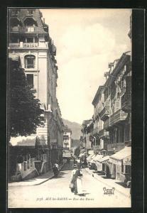AK Aix-les-Bains, Rue des Bains, Strassenpartie