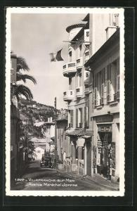 AK Villefranche-sur-Mer, Avenue Marechal Joffre