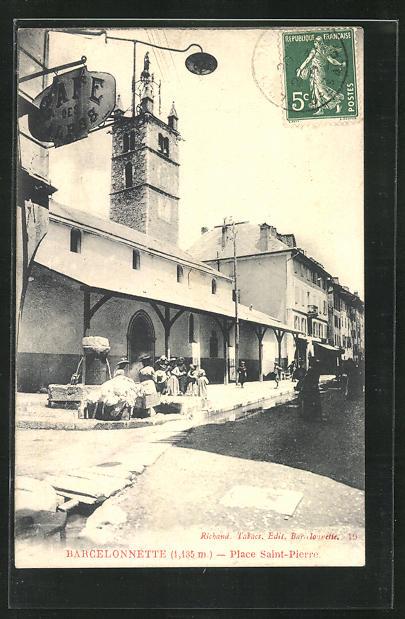 AK Barcelonnette, Place Saint-Pierre 0