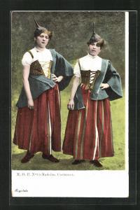 AK Madeira, Einheimische Mädchen in Tracht