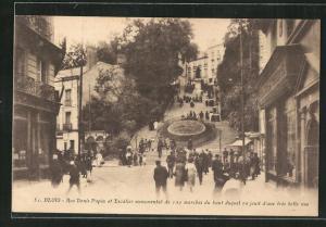 AK Blois, Rue Denis Papin et Escalier monumental