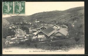 AK Salins-les-Bains, La Gare vue de la Route de Nans