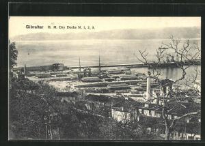 AK Gibraltar, H. M. Dry Docks N. 1, 2, 3