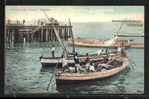 Künstler-AK Freetown, a view in the Sawpit