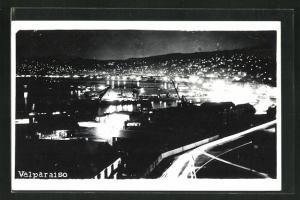 AK Valparaiso, Totalansicht bei Nacht