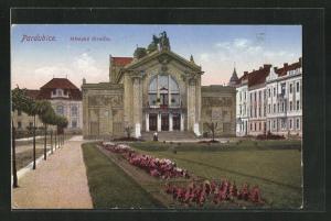 Künstler-AK Pardubice, Mestske divadlo