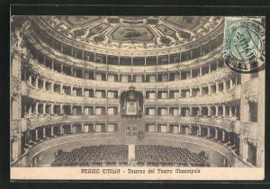 AK Reggio Emilia, Interno del Teatro Municipale