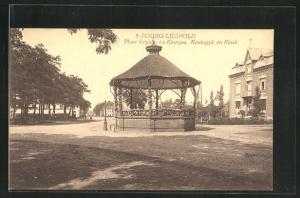AK Bourg-Leopold, Place Royale, Le Kiosque, Koningpl. en Kiosk