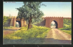 Künstler-AK Zaria, View of the Gates