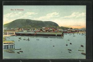 Künstler-AK Panama, Panoramablick auf die Bucht