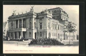 AK Zürich, Blick auf das Stadttheater