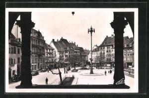 AK Mulhouse, Place de la Reunion vue de l'Hotel de Ville