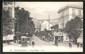 AK Aix-les-Bains, Avenue Wilson et Hotel Beau-Lieu