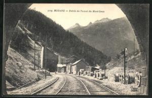 AK Modane, Entree du Tunnel du Mont-Cenis