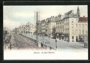 Künstler-AK Anvers, Le Quai Plantin