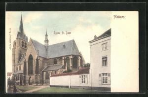 Künstler-AK Malines, Eglise St. Jean