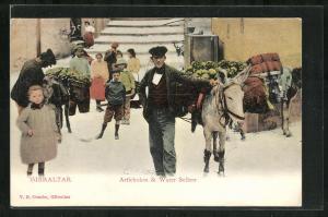 Künstler-AK Gibraltar, Artichokes & Water Sellers
