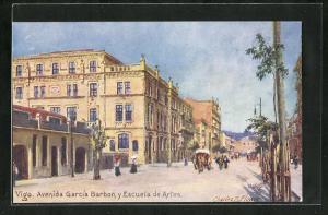 AK Vigo, Avenida Garcia Barbon y Escuela de Artes