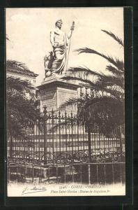 AK Bastia, Place Saint-Nicolas, Statue de Napoleon I.