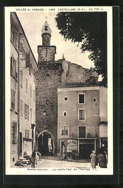 AK Castellane, La vieille Tour de l'Horloge 0