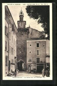 AK Castellane, La vieille Tour de l'Horloge