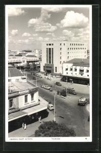 AK Nairobi, Strassenansicht mit Geschäft Woolworth