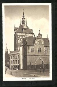 AK Danzig / Gdansk, Blick zum Stockturm