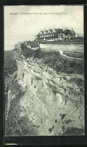 AK Ronda, Hotel Reina Victoria, sobre el borde del Tajo