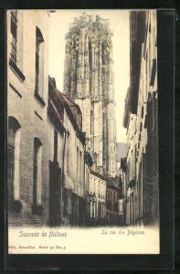 AK Malines, La Rue des Béguines