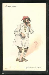 Künstler-AK Charakter aus Charles Dickens Werken, Jacques Three