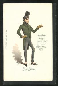 Künstler-AK Charakter aus Charles Dickens Werken, Alf Jingle