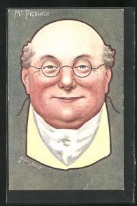 Künstler-AK Charakter aus Charles Dickens Werken, Mr. Pickwick