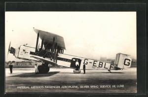 AK Imperial Airways Passenger Aeroplane, Silver Wing Service de Luxe