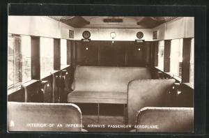 AK Imperial Airways Ltd., Interior of an Imperial Airways Passenger Aeroplane