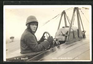 AK Pilot H.M. Brock flying at Hendon Aeroplane
