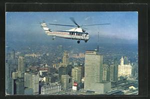 AK Chicago Helicopter Airways über der Stadt