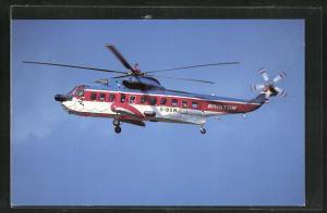 AK Bristow Helicopter Sikorsky S-61N hoch in der Luft